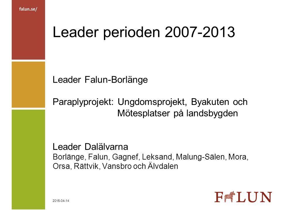 Leader perioden 2007-2013 Leader Falun-Borlänge