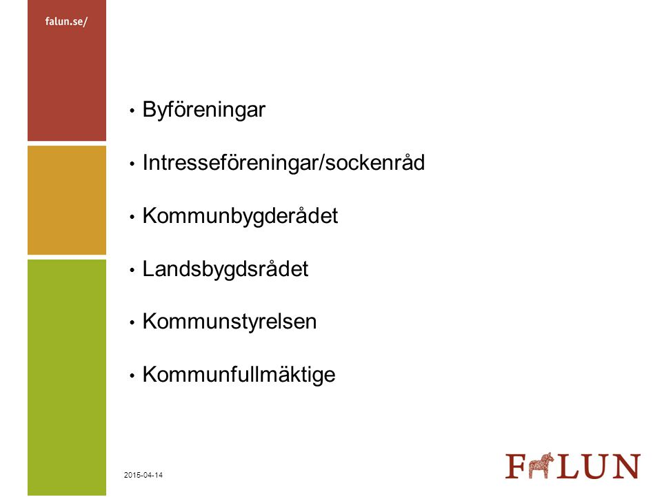 Byföreningar Intresseföreningar/sockenråd. Kommunbygderådet.