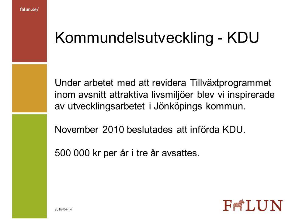 Kommundelsutveckling - KDU