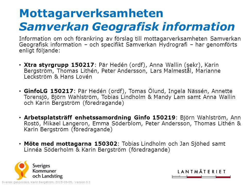 Mottagarverksamheten Samverkan Geografisk information