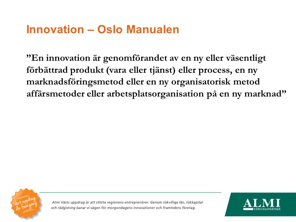 Innovation – Oslo Manualen