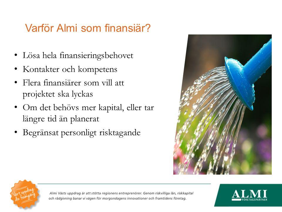 Varför Almi som finansiär