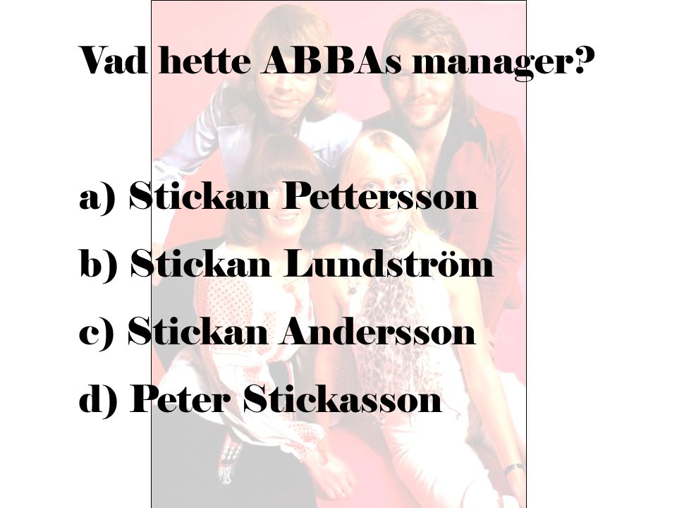 Vad hette ABBAs manager