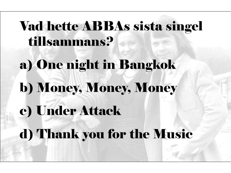 Vad hette ABBAs sista singel tillsammans