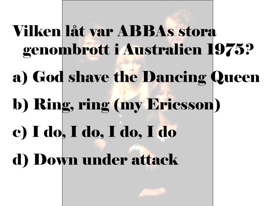 Vilken låt var ABBAs stora genombrott i Australien 1975