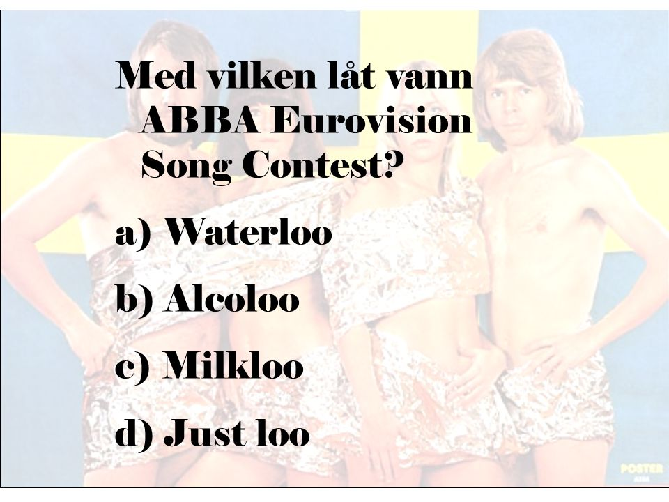 Med vilken låt vann ABBA Eurovision Song Contest
