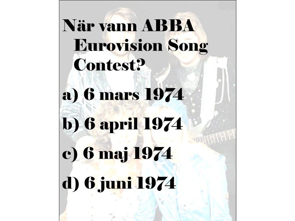 När vann ABBA Eurovision Song Contest