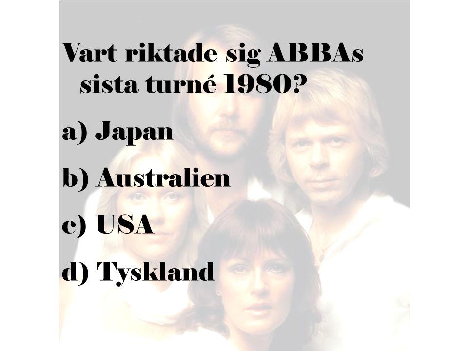 Vart riktade sig ABBAs sista turné 1980