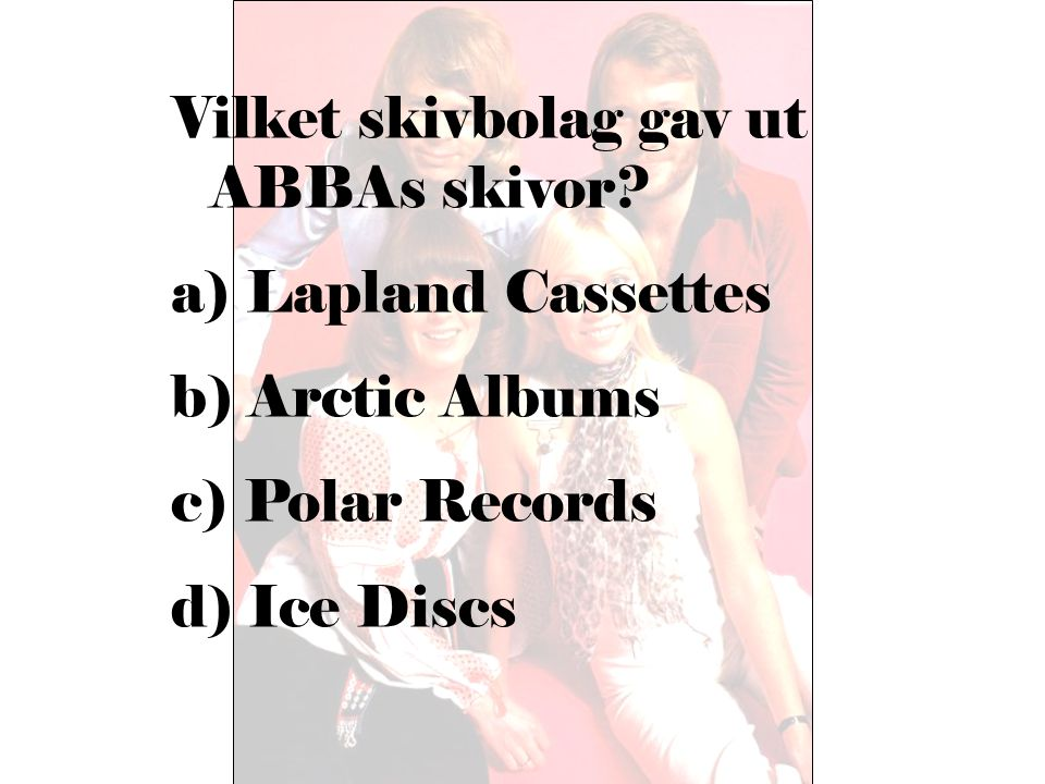 Vilket skivbolag gav ut ABBAs skivor
