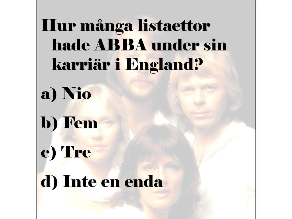 Hur många listaettor hade ABBA under sin karriär i England