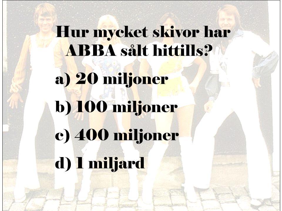 Hur mycket skivor har ABBA sålt hittills