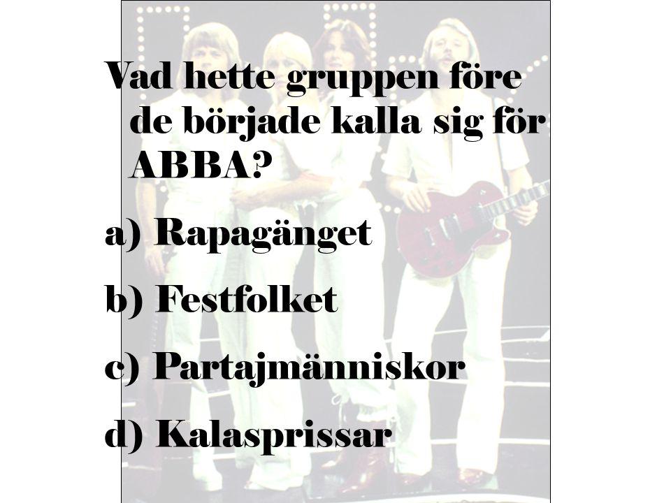 Vad hette gruppen före de började kalla sig för ABBA