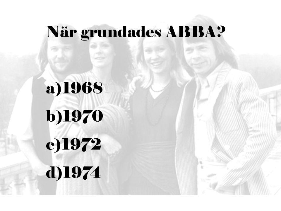 När grundades ABBA 1968 1970 1972 1974