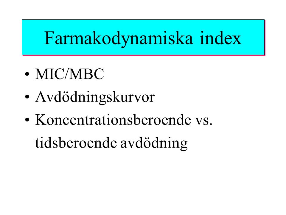 Farmakodynamiska index