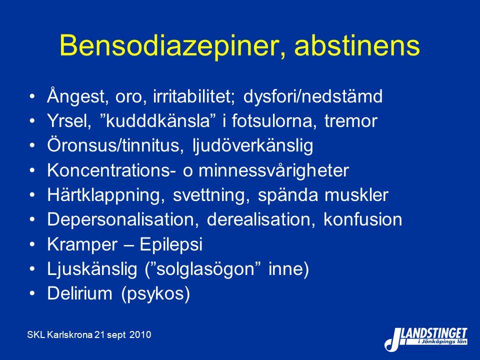 Bensodiazepiner, abstinens