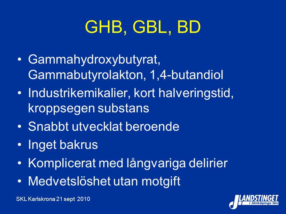 GHB, GBL, BD Gammahydroxybutyrat, Gammabutyrolakton, 1,4-butandiol
