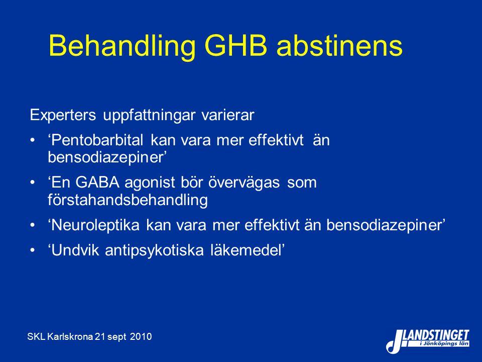 Behandling GHB abstinens