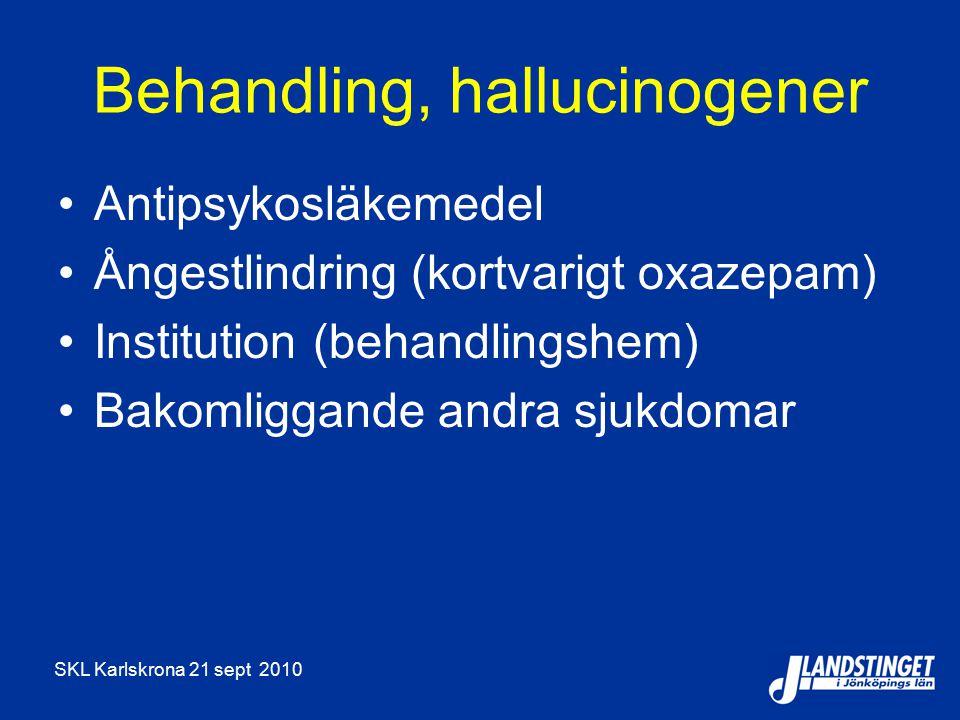 Behandling, hallucinogener