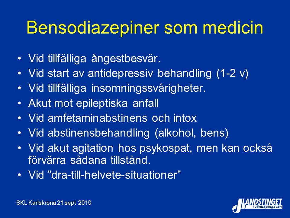 Bensodiazepiner som medicin