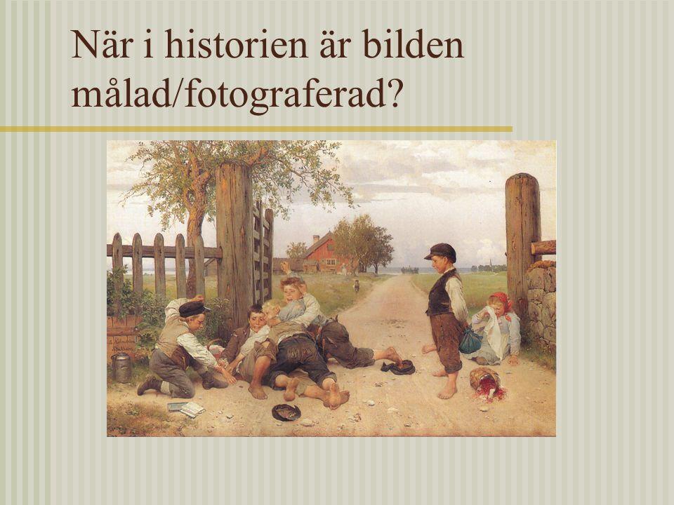 När i historien är bilden målad/fotograferad