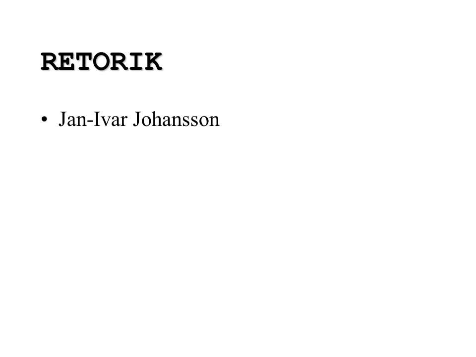 RETORIK Jan-Ivar Johansson