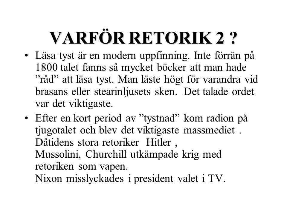 VARFÖR RETORIK 2