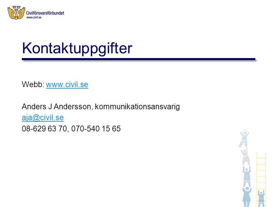 Kontaktuppgifter Webb: www.civil.se