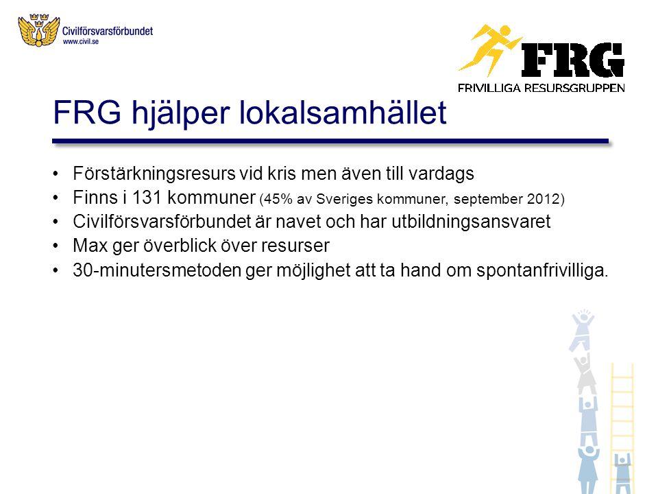 FRG hjälper lokalsamhället