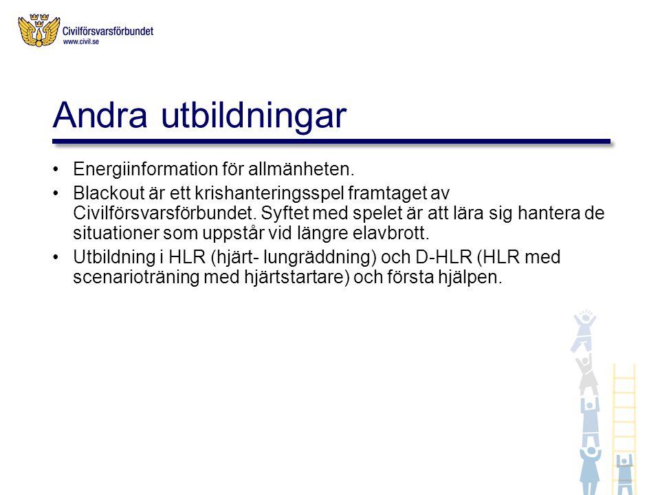 Andra utbildningar Energiinformation för allmänheten.