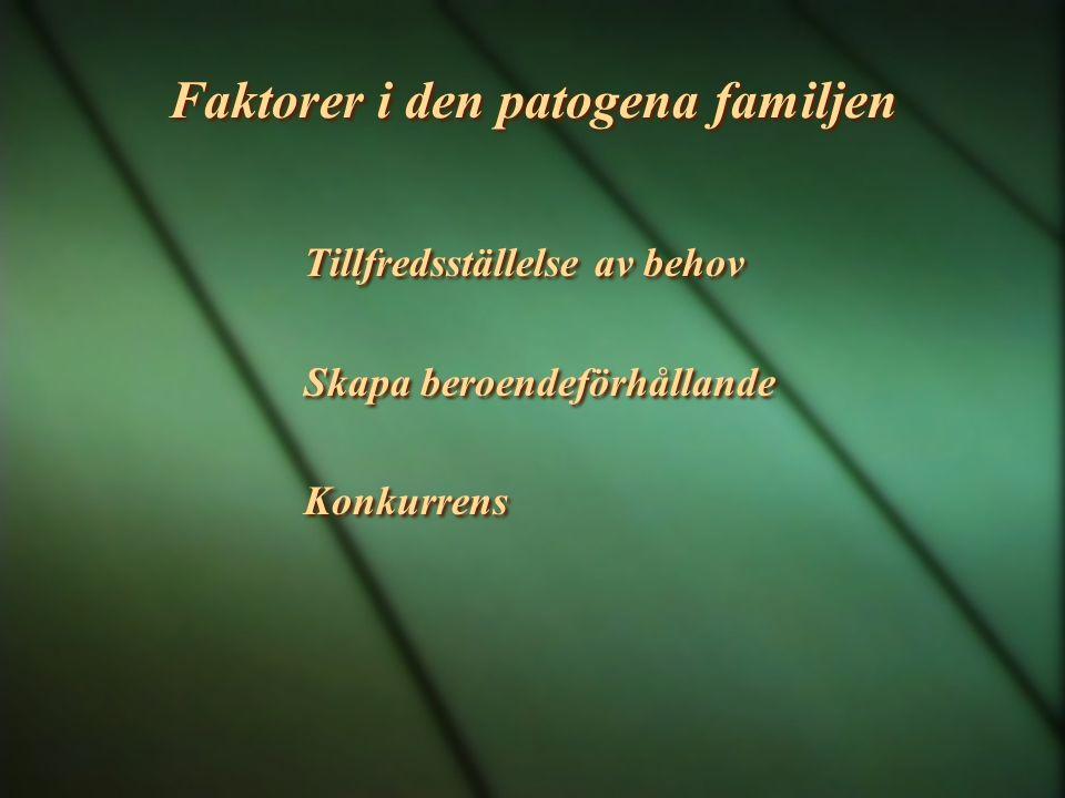 Faktorer i den patogena familjen