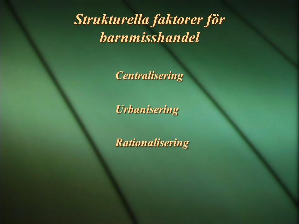 Strukturella faktorer för barnmisshandel