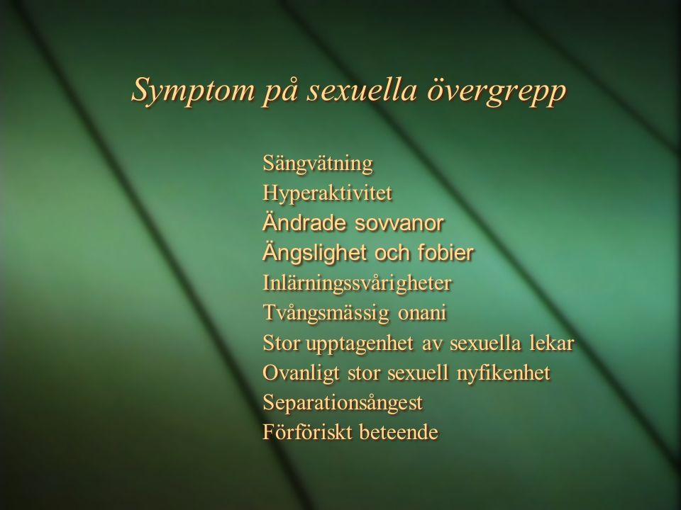 Symptom på sexuella övergrepp