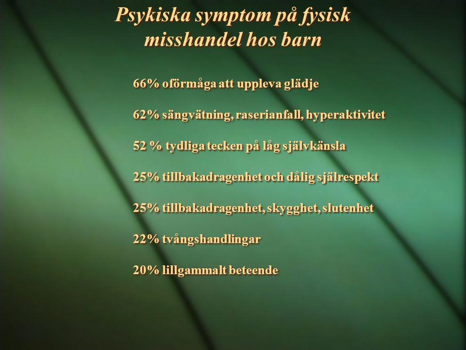 Psykiska symptom på fysisk misshandel hos barn