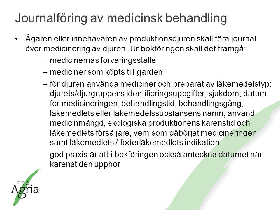 Journalföring av medicinsk behandling