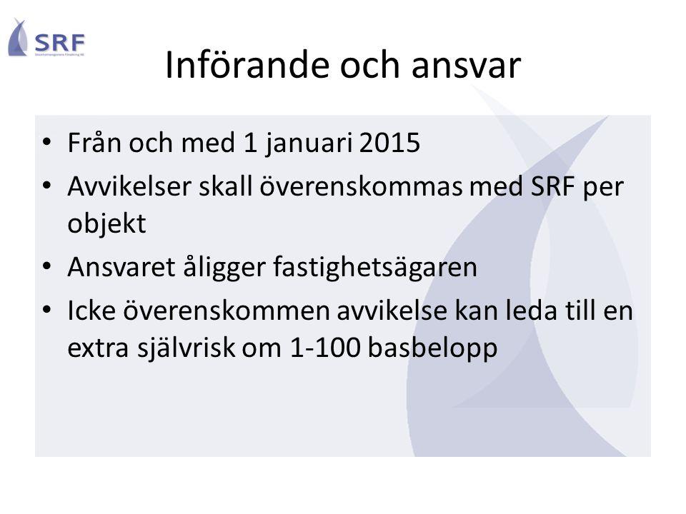 Införande och ansvar Från och med 1 januari 2015