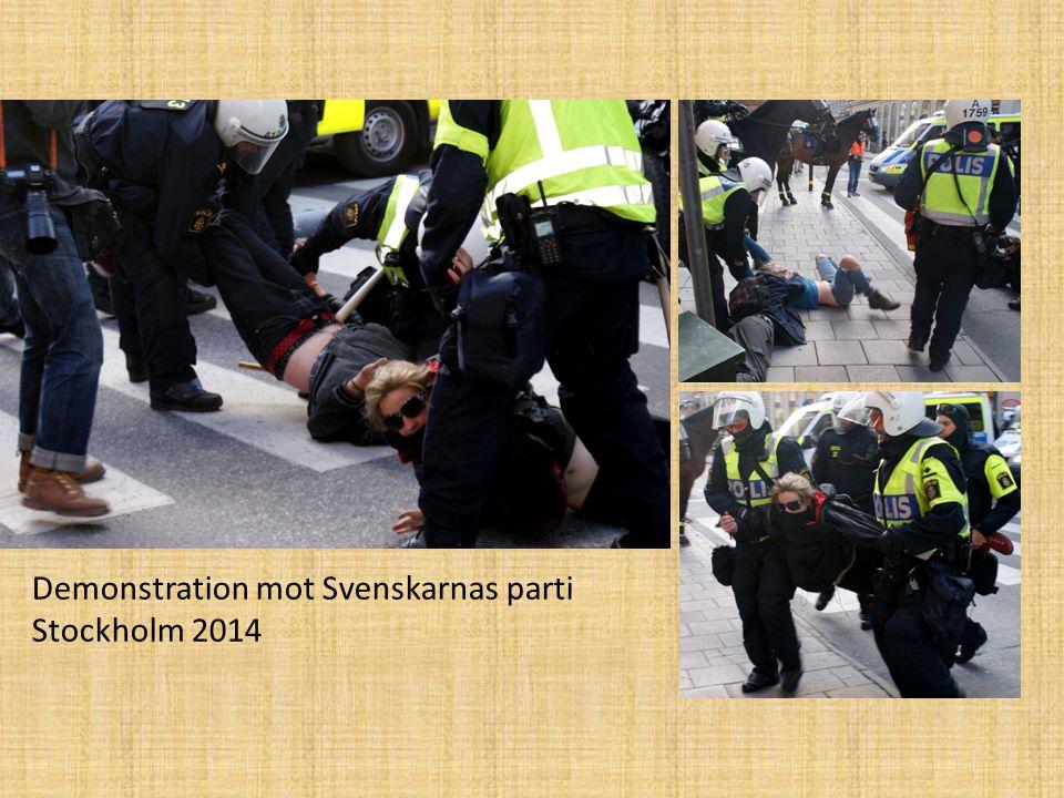 Demonstration mot Svenskarnas parti Stockholm 2014