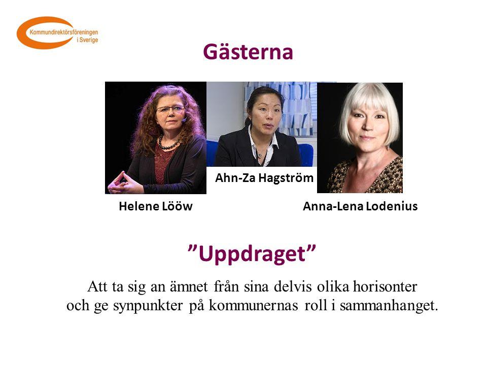 Gästerna Ahn-Za Hagström. Helene Lööw. Anna-Lena Lodenius. Uppdraget Att ta sig an ämnet från sina delvis olika horisonter.