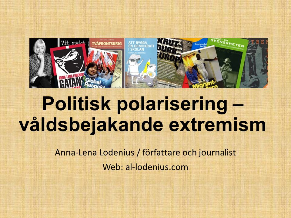 Politisk polarisering – våldsbejakande extremism