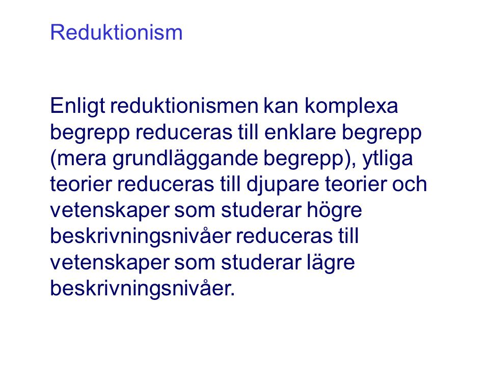 Reduktionism