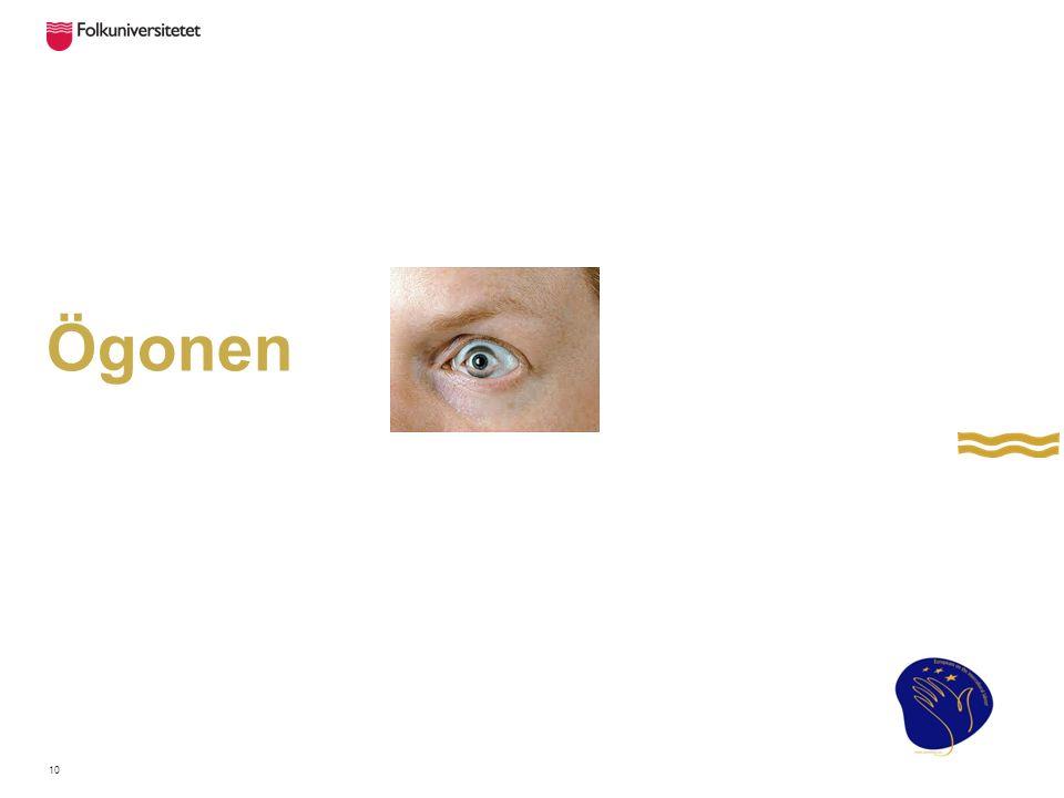 Ögonbrynen Ögonbrynen – ändras utefter vår sinnesstämning.