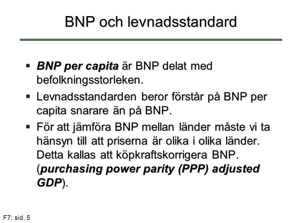 BNP och levnadsstandard