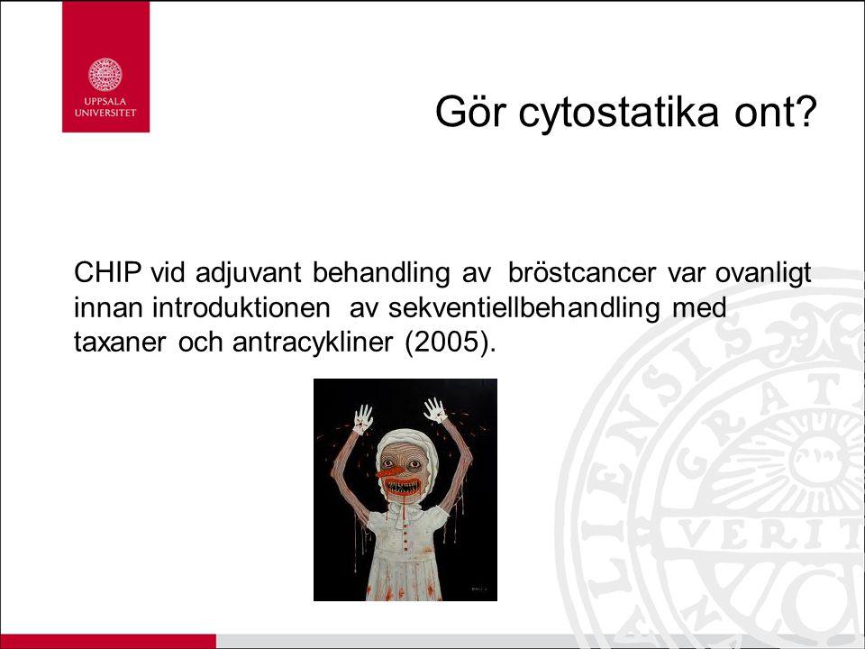 Gör cytostatika ont