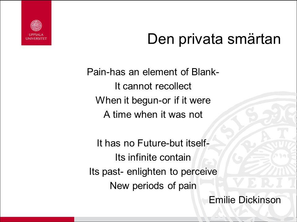 Den privata smärtan