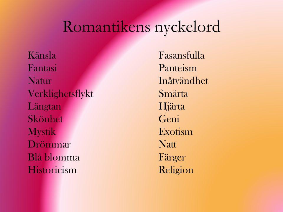 Romantikens nyckelord