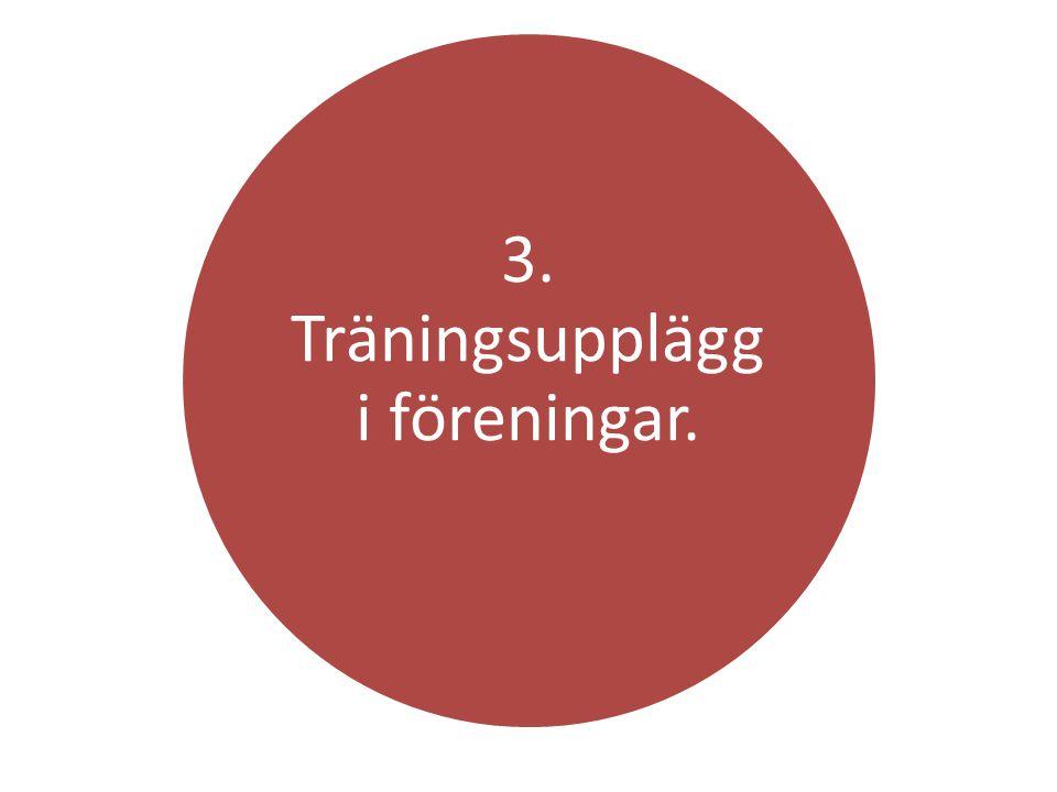 3. Träningsupplägg i föreningar.
