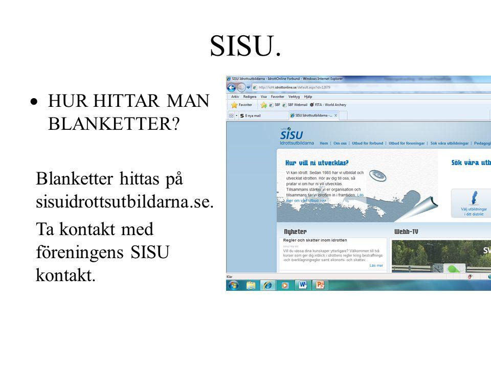 SISU. HUR HITTAR MAN BLANKETTER