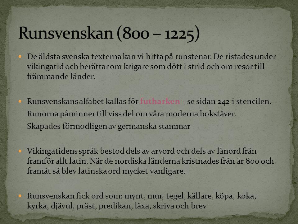 Runsvenskan (800 – 1225)