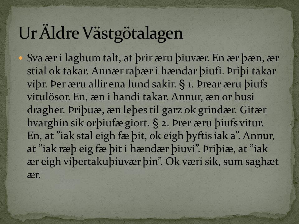 Ur Äldre Västgötalagen
