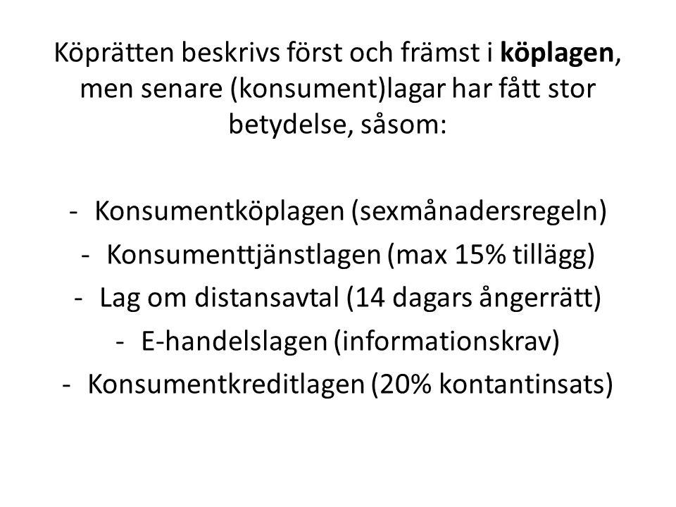 Konsumentköplagen (sexmånadersregeln)