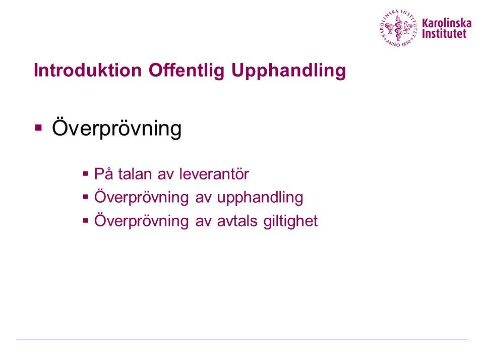 Introduktion Offentlig Upphandling